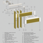 Вертикальные пластиковые. 3D схема конструкции.