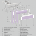 Вертикальные тканевые. 3D схема конструкции.
